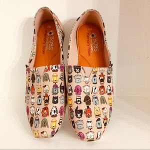 Dog lovers BOBS by Skechers pink slip-ons so cute